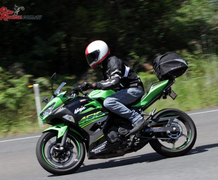 The Ninja 400 isn't full sportsbike ergonomics, making for a more inviting entry point for new ridersThe Ninja 400 isn't full sportsbike ergonomics, making for a more inviting entry point for new riders