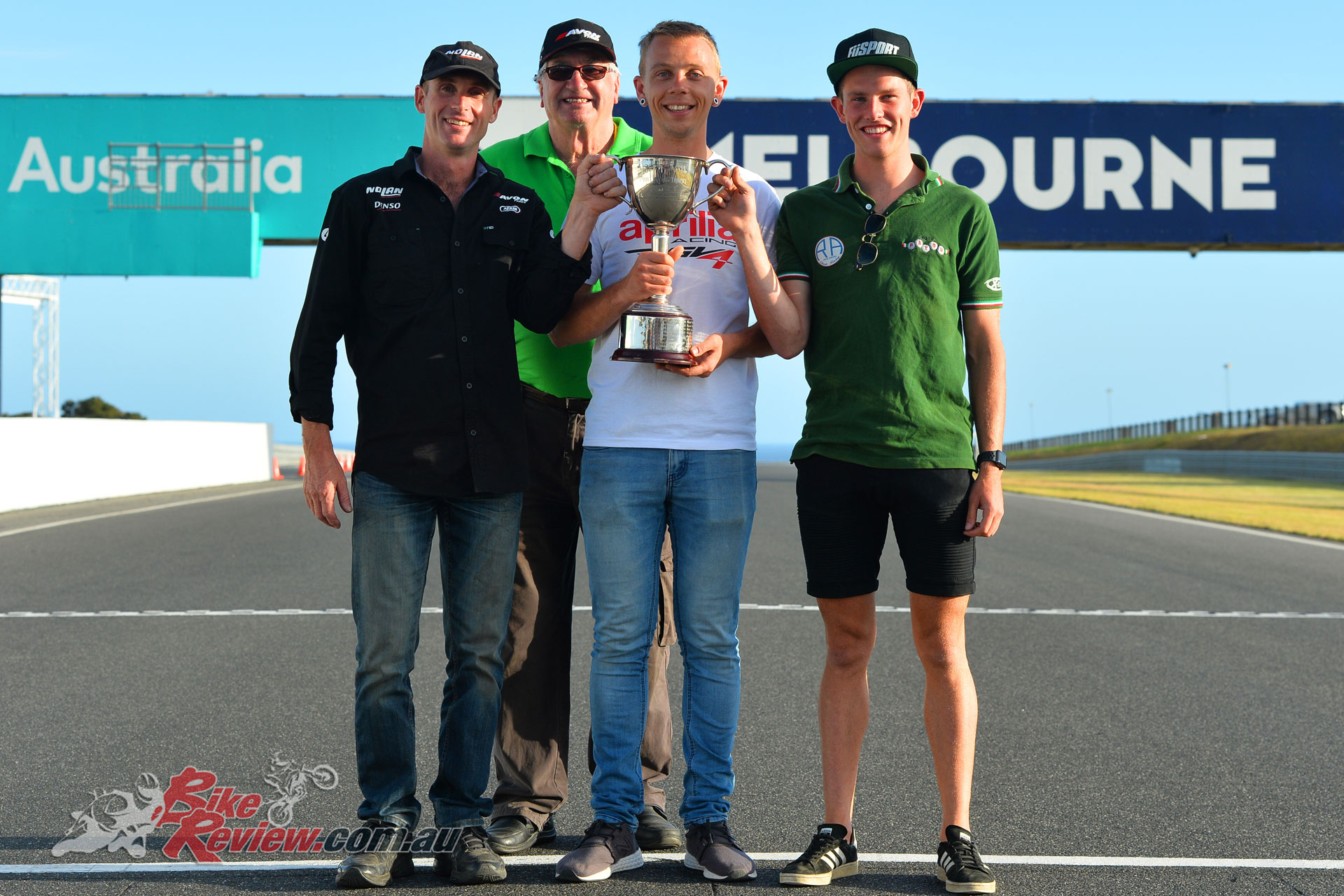 2019's Phil Irving Memorial Trophy winners - Lachlan Hill, Levi Day, Tom Bramich - Image by Russell Colvin