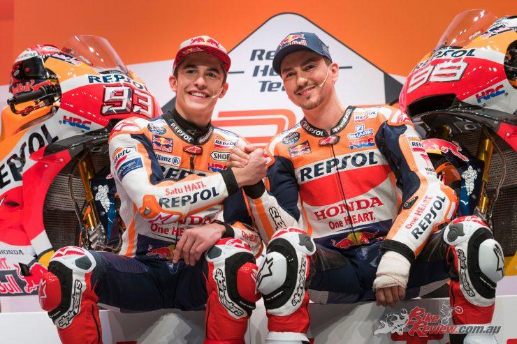 Marc Marquez and Jorge Lorenzo reveal 2019 Repsol Honda Team livery
