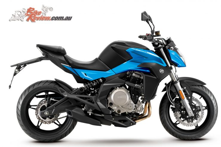 CFMoto's 650NK in Blue