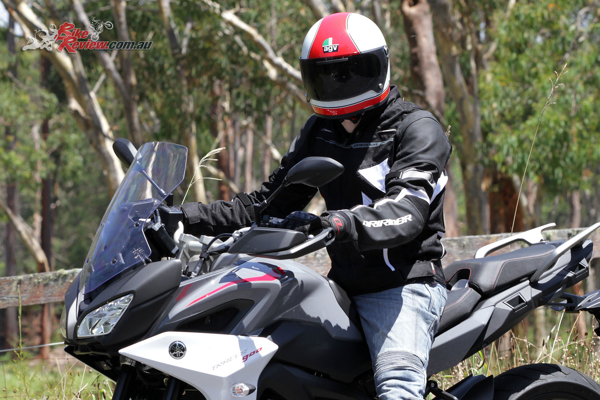 Rocking the Dririder Climate Control EXO 2 Jacket and Strike Gloves while testing Yamaha's MT-09 Tracer in 35-degree heat