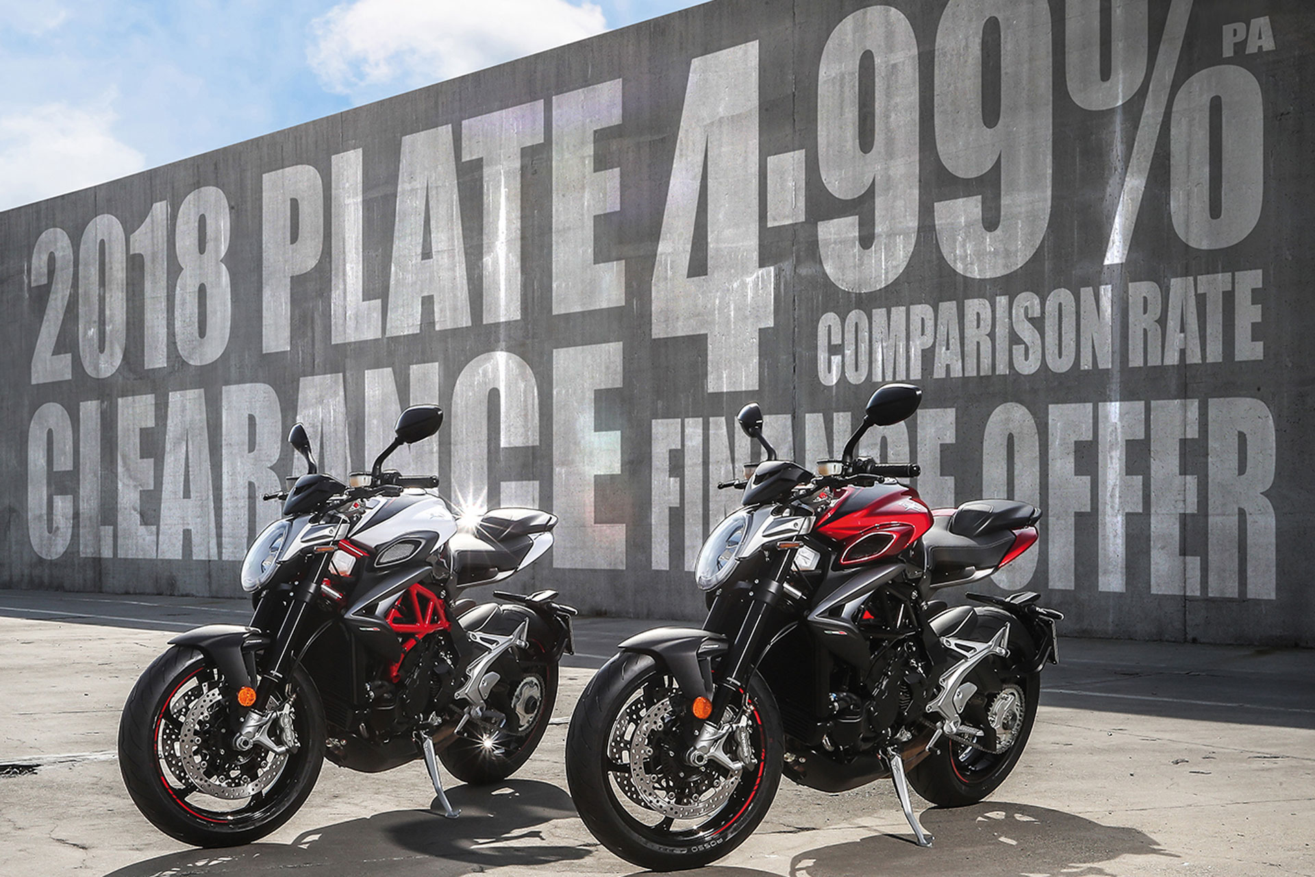 MV Agusta Australia 2019 Finance Offer: 4.99% comparison rate