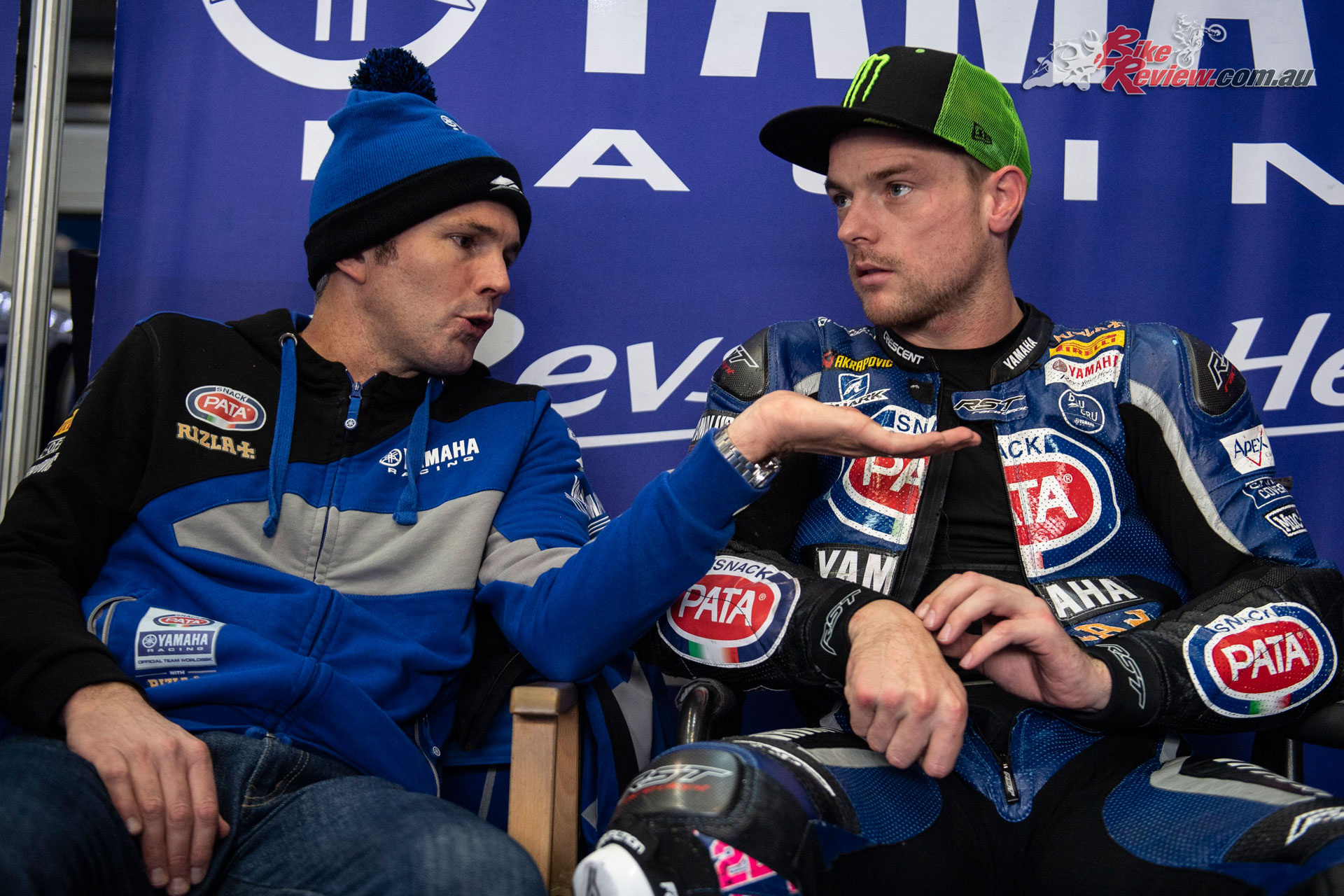 Andrew Pitt and Alex Lowes at Jerez back in 2018