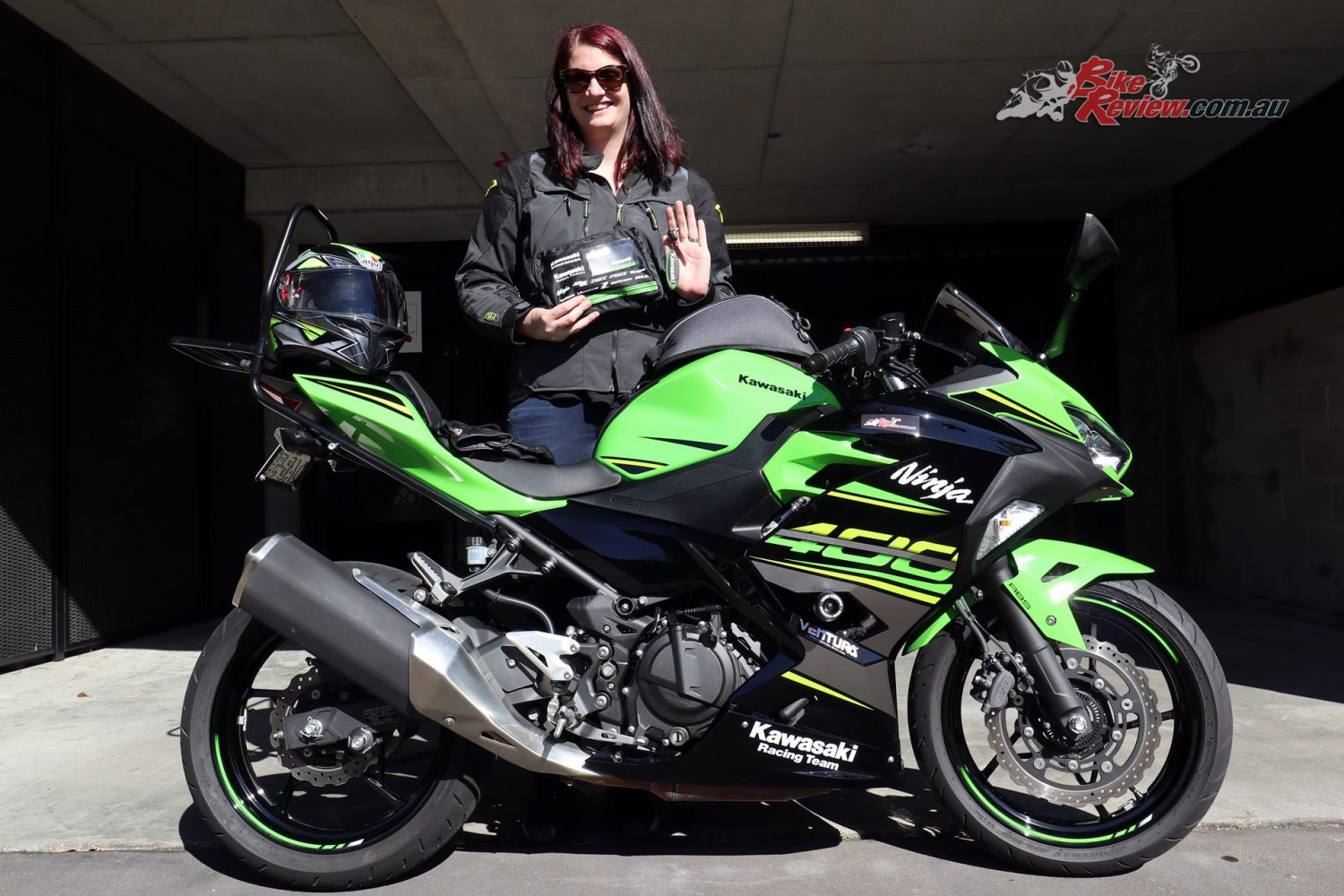Sam had to wait till she finished work to officially get the keys to our Project Ninja 400!