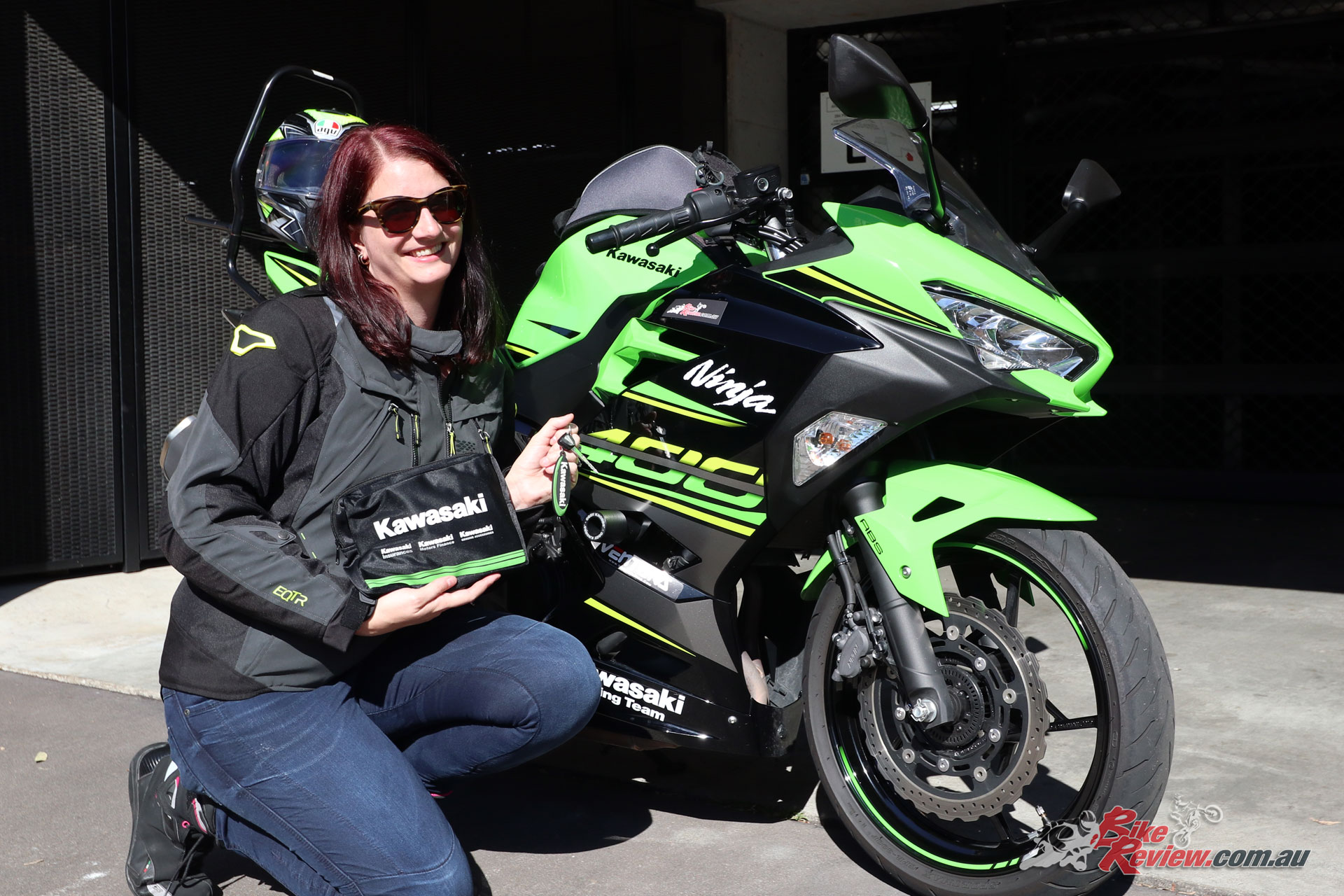 All smiles on officially getting the keys to our Project Ninja 400!