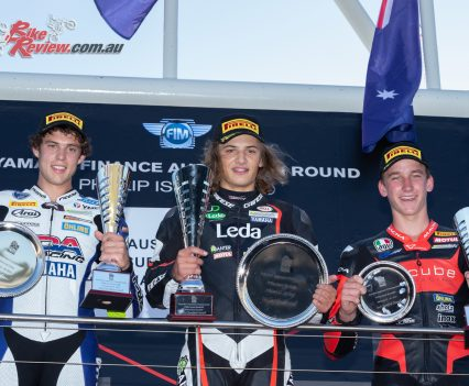 Tom Toparis claims the overall Supersport win at Phillip Island in the ASBK, with a perfect 76 points haul - Image by TBG Sport