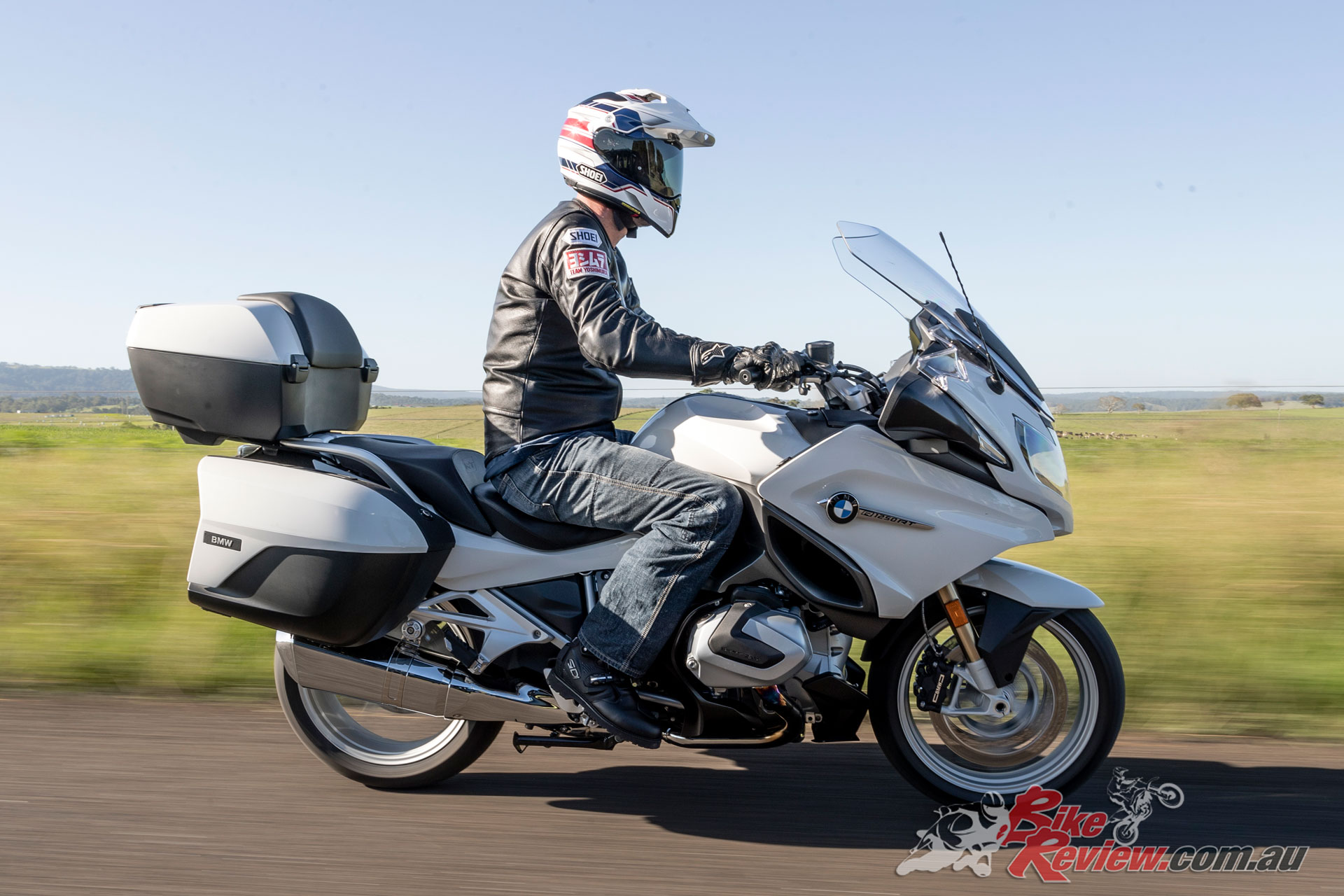 Shoei Hornet ADV Helmet on the 2019 BMW R 1250 RT