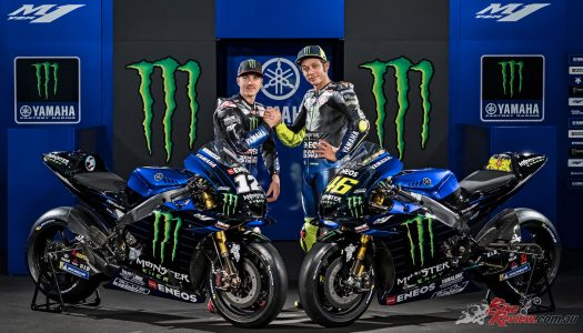 Rossi & Vinales reveal Monster Energy Yamaha MotoGP livery