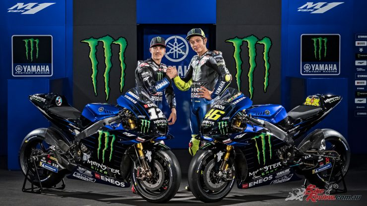 Maverick Vinales and Valentino Rossi of the Monster Energy Yamaha MotoGP Team