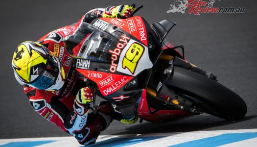Alvaro Bautista tops Phillip Island WSBK Test on V4 R
