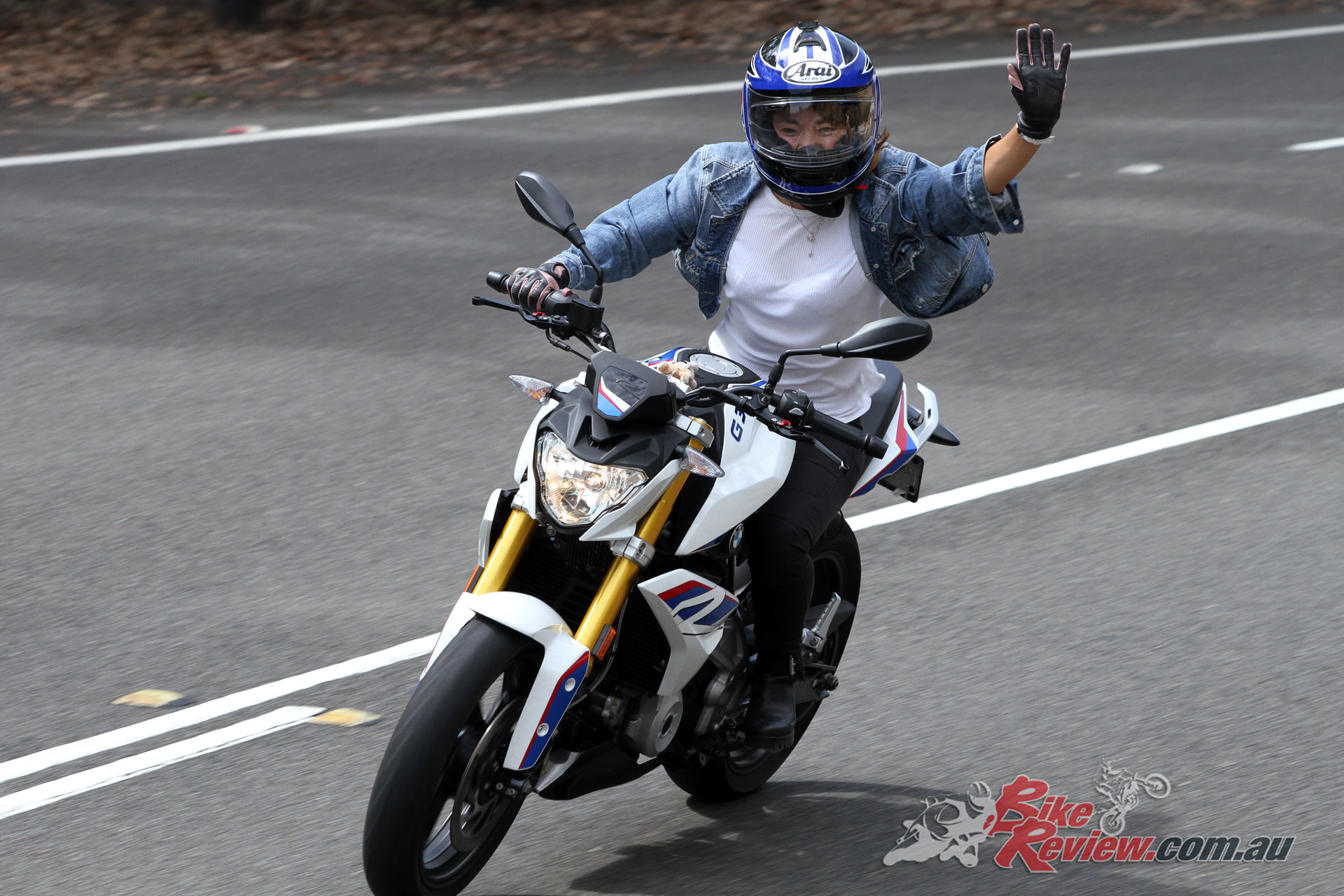 Elis on her BMW G 310 R