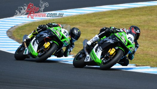 Kawasaki BCperformance Podium in Phillip Island ASBK opener