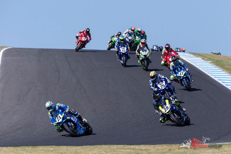 ASBK Superbikes Race 1 at Phillip Island - Image by TBG