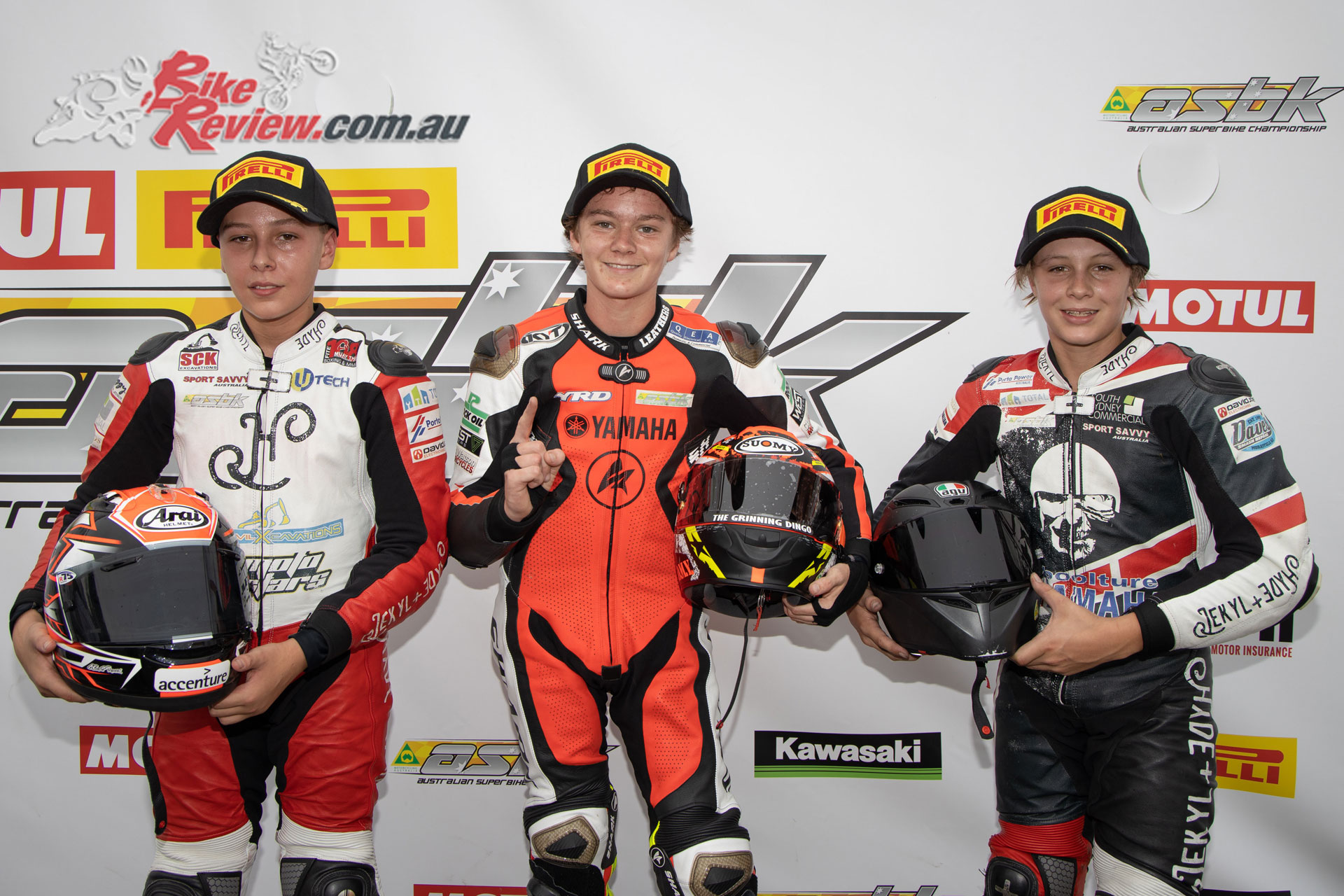 YMI Supersport 300 Podium - Race 1, Saturday Wakefield Park - Image by TBG