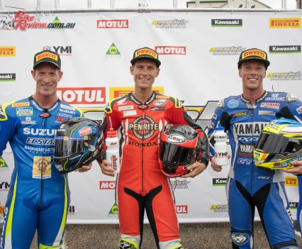 Troy Herfoss claimed top honours in the Kawasaki Superbike class at Round 2 - Image by TBG Sport