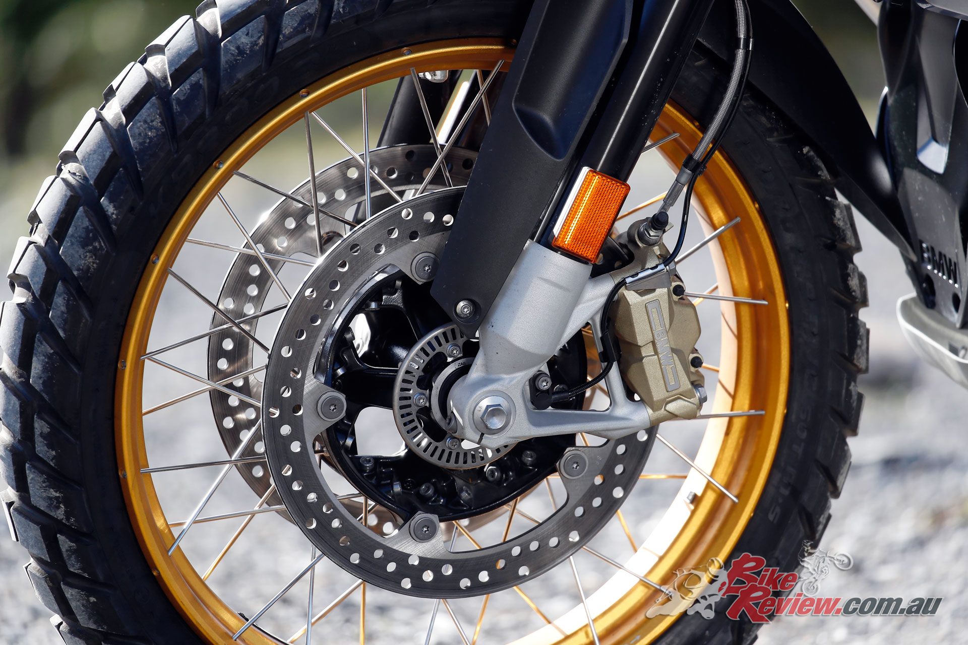 Brakes offer a high level of performance, while in off-road conditions simple grip is the biggest constraint