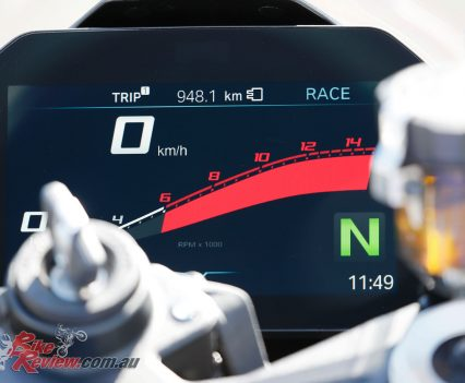 2019 BMW S 1000 RR World Launch Review - Dash