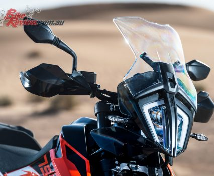 2019 KTM 790 Adventure front headlight and screen