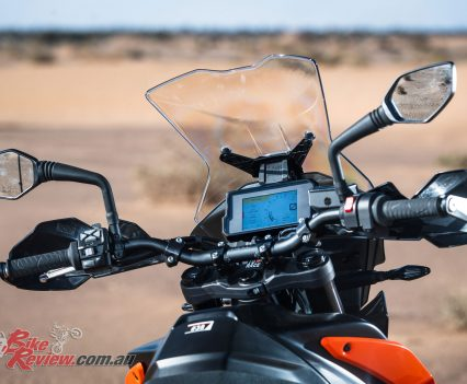 2019 KTM 790 Adventure dash and controls