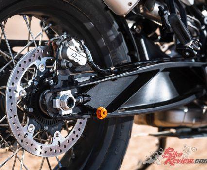 2019 KTM 790 Adventure swingarm and rear brake