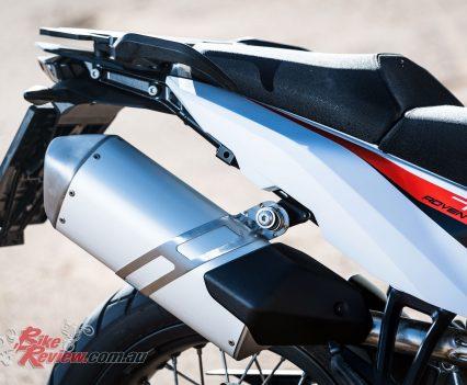 2019 KTM 790 Adventure stock exhaust