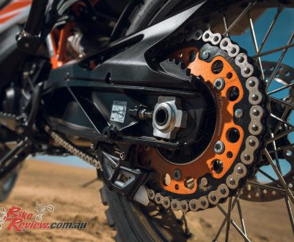 Wire spoke wheels join long travel suspension on both 790 Adventure models