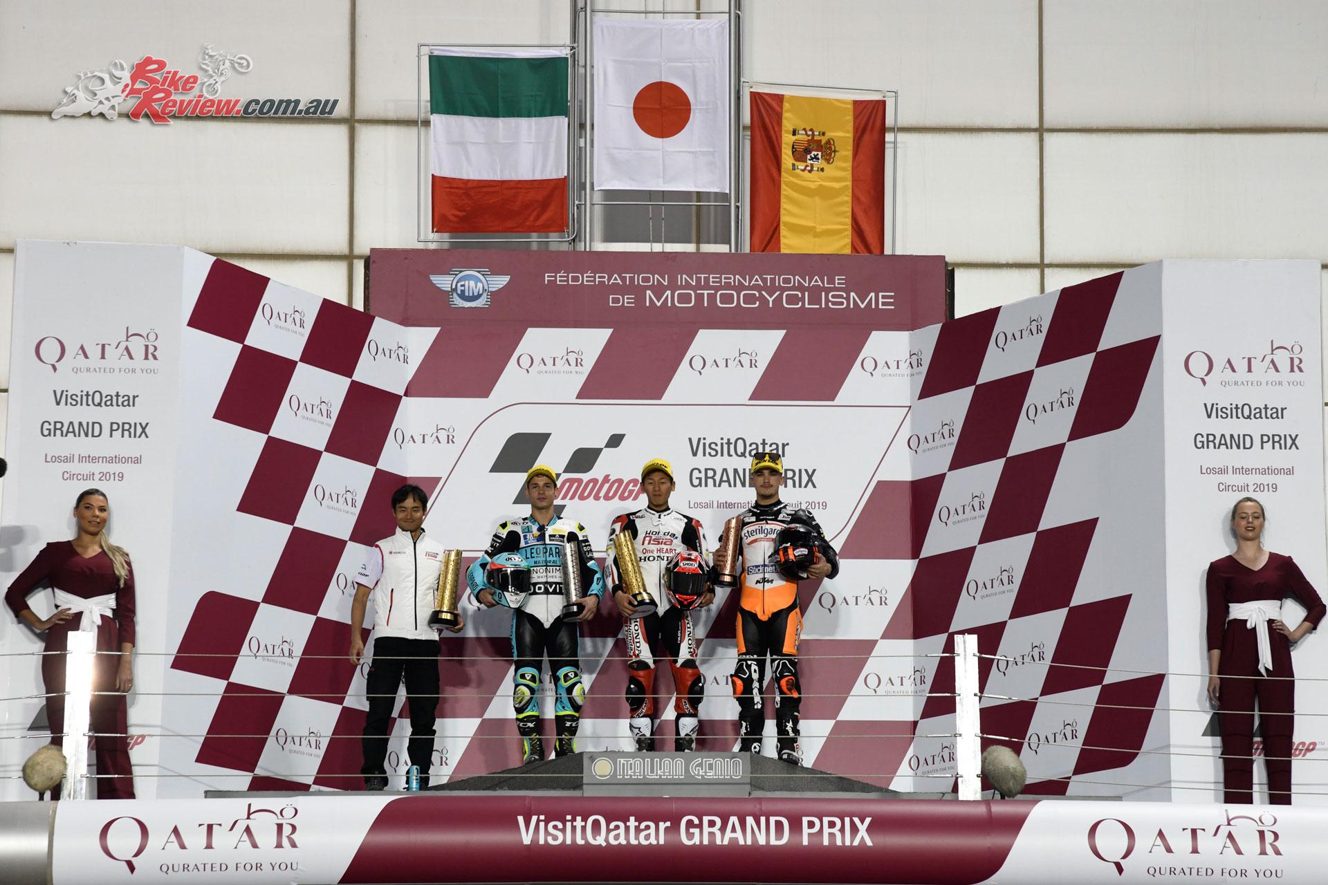 Moto3 Podium - Qatar MotoGP - Round 1, 2019