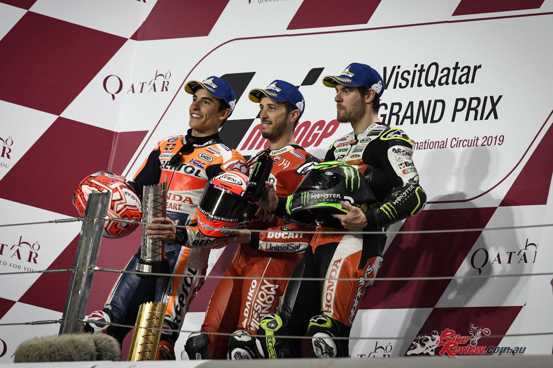 MotoGP Podium - Qatar MotoGP - Round 1, 2019