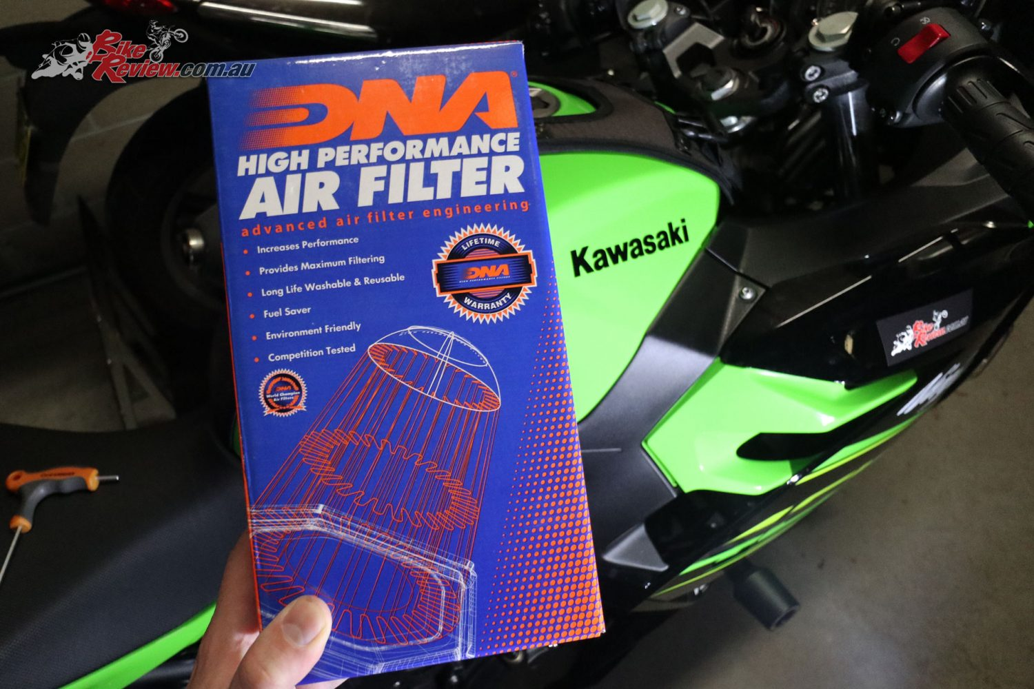 DNA Performance Air Filter for our Project Ninja 400