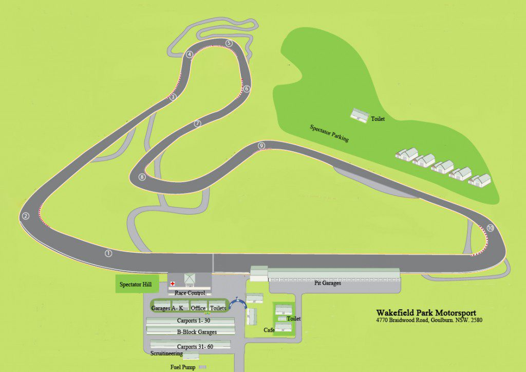 Wakefield Park Circuit Map