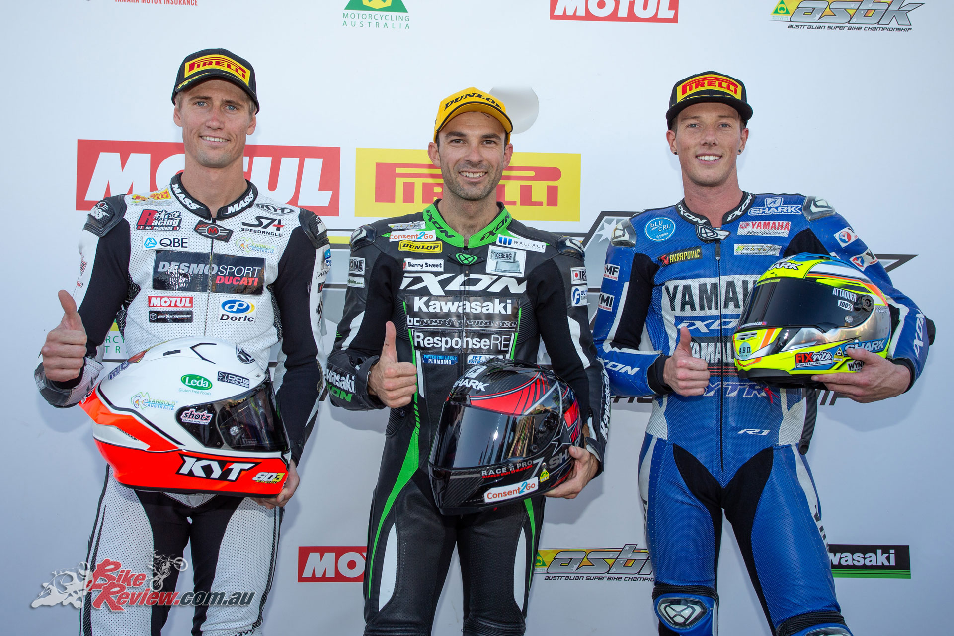 Kawasaki Superbike Race 1 Podium - Image by TBG Sport