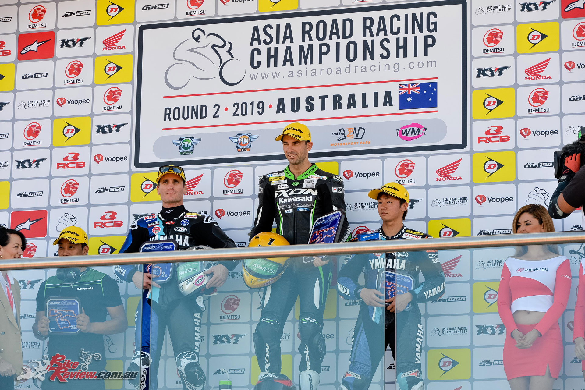 Bryan Staring on the ARRC podium at Talem Bend - Image by Foremost Media