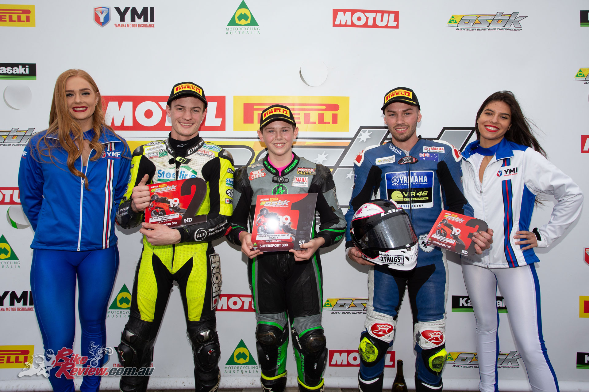 Australian Supersport 300 Round Podium - Image by TBG Sport