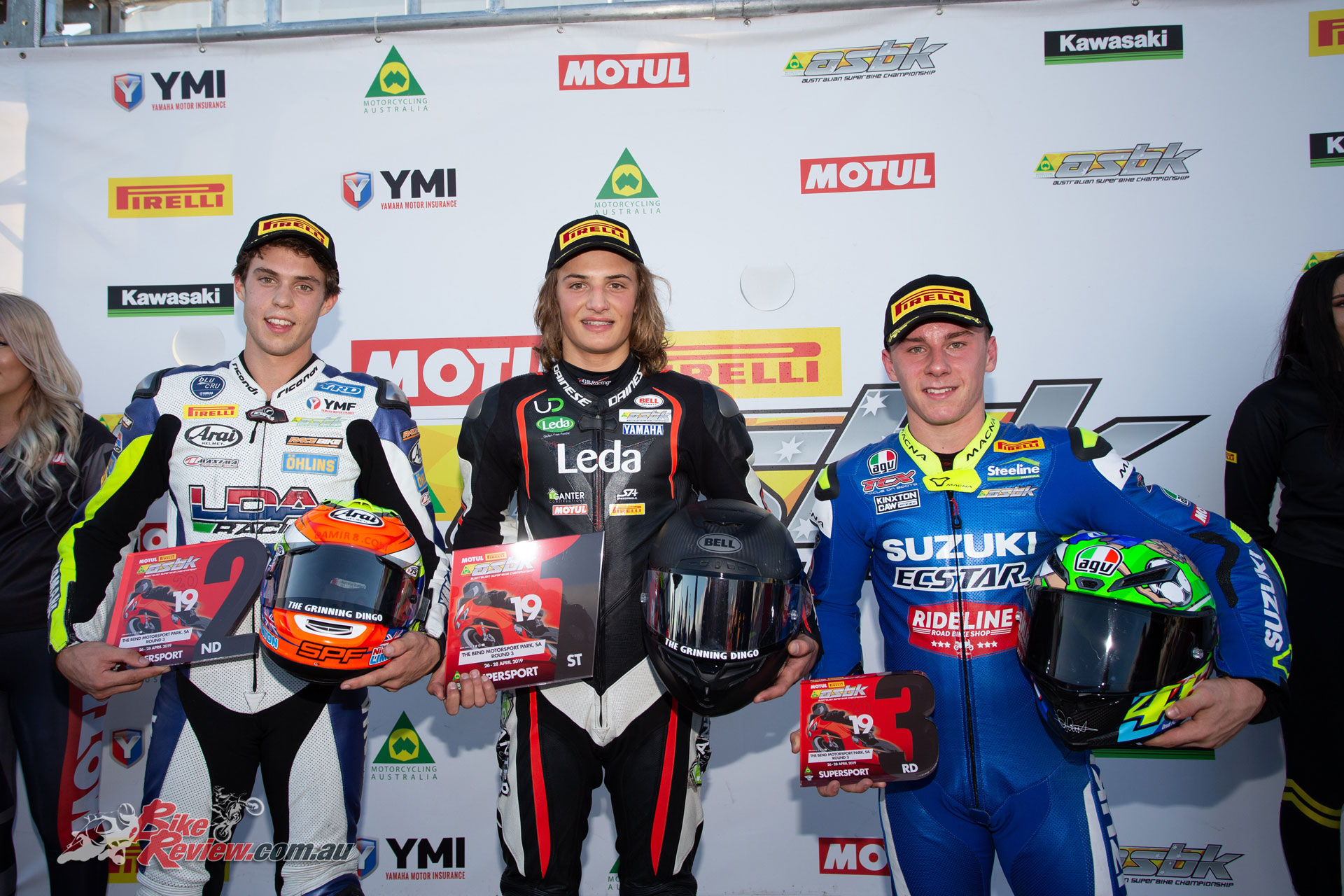 Australian Supersport Round Podium - Image by TBG Sport