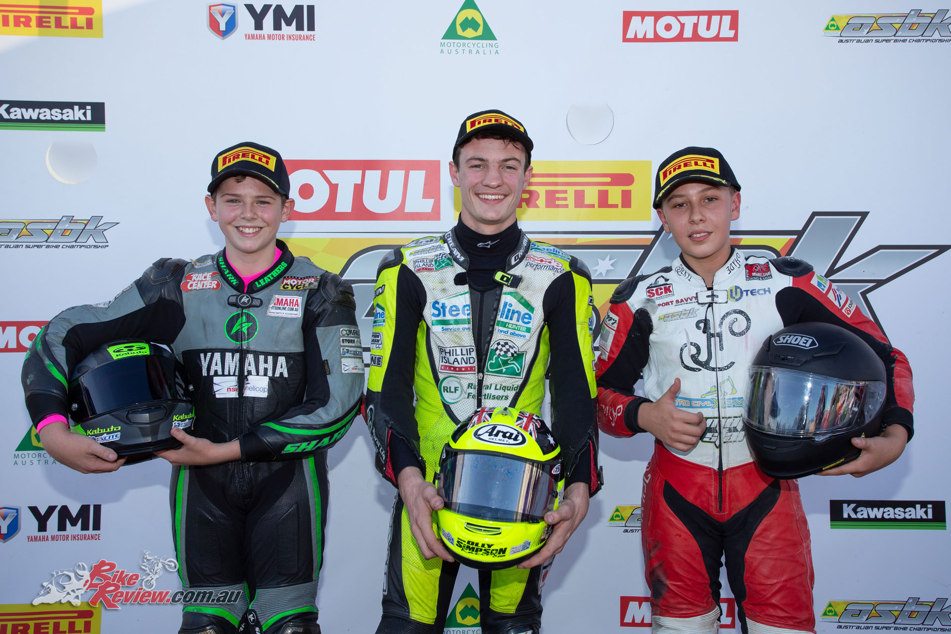 Australian Supersport 300 Race 1 Podium - Image by TBG Sport