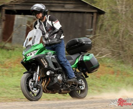 Wheels are 'lightweight' options according to Kawasaki with Bridgestone Battlax Sport Touring T31 tyres