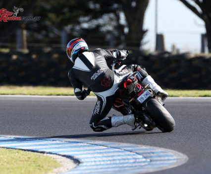 The wide range of settings available for traction control, engine mapping and throttle sensitivity meant getting all of that power to the ground was no problem, even on the demanding Phillip Island surface.