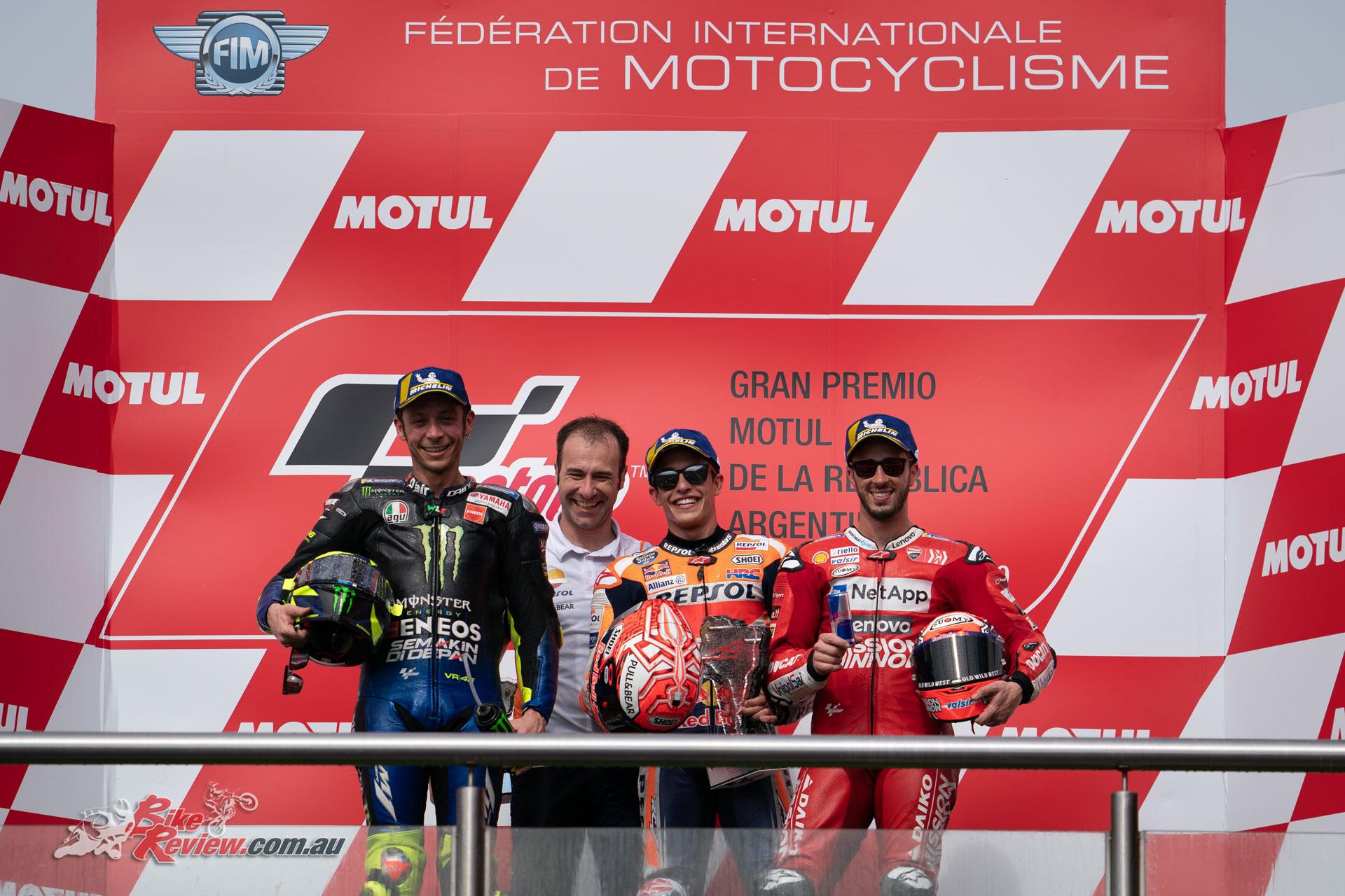2019 MotoGP Podium - Argentina