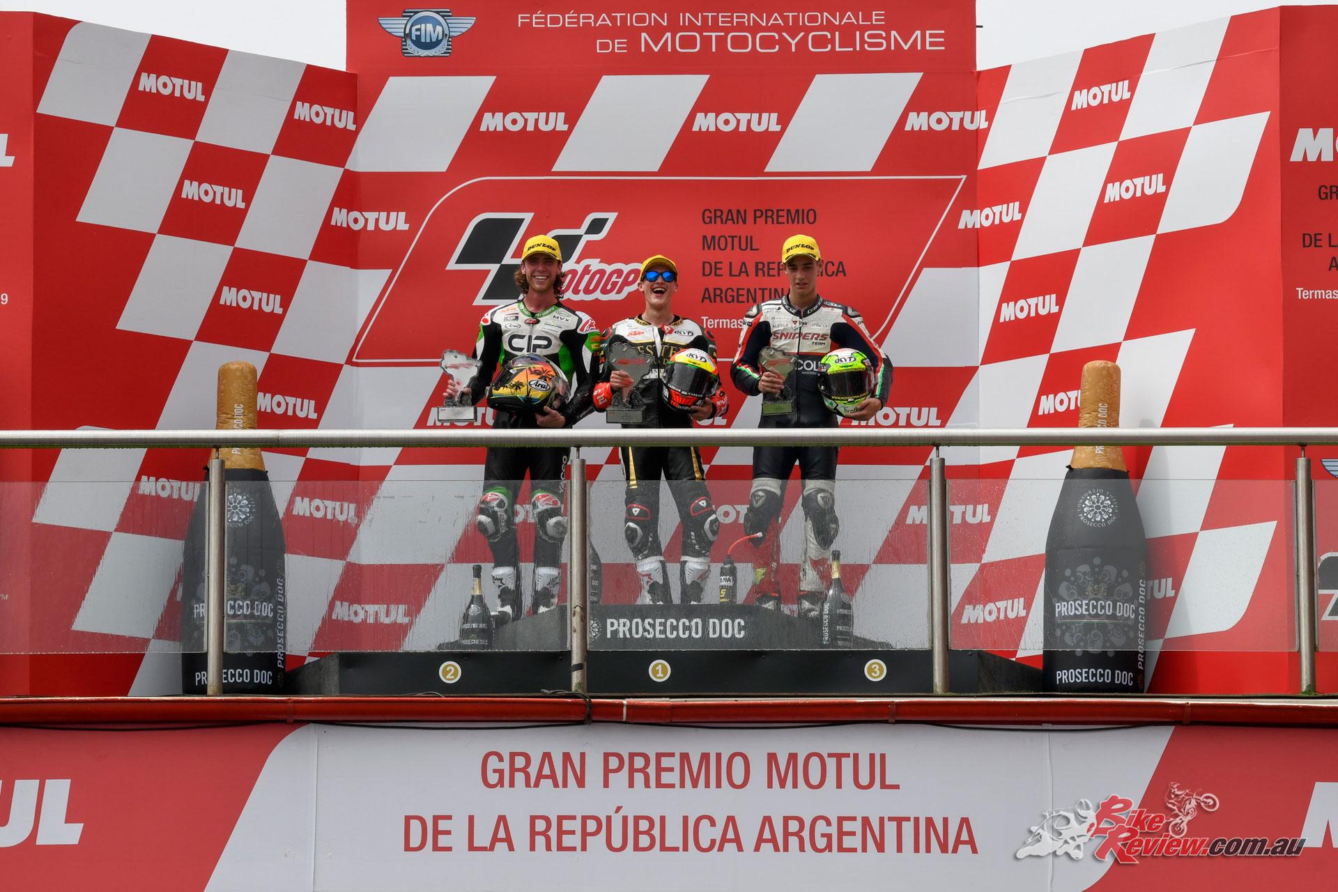 Moto3 Podium - Argentina 2019