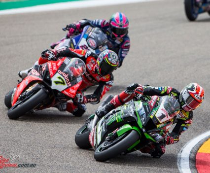Bautista takes the Race 1 win at Aragon from Rea and Davies