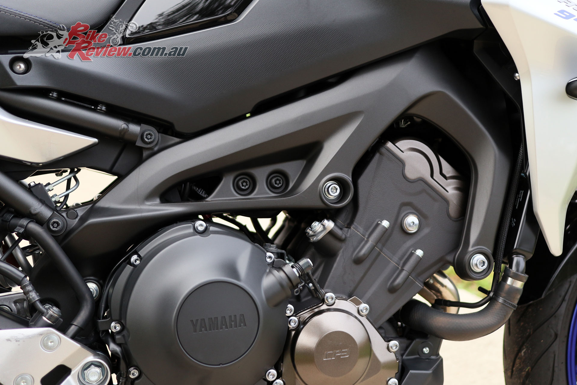 The famous MT-09 847cc triple-cylinder is also put to good use in the Tracer 900 GT