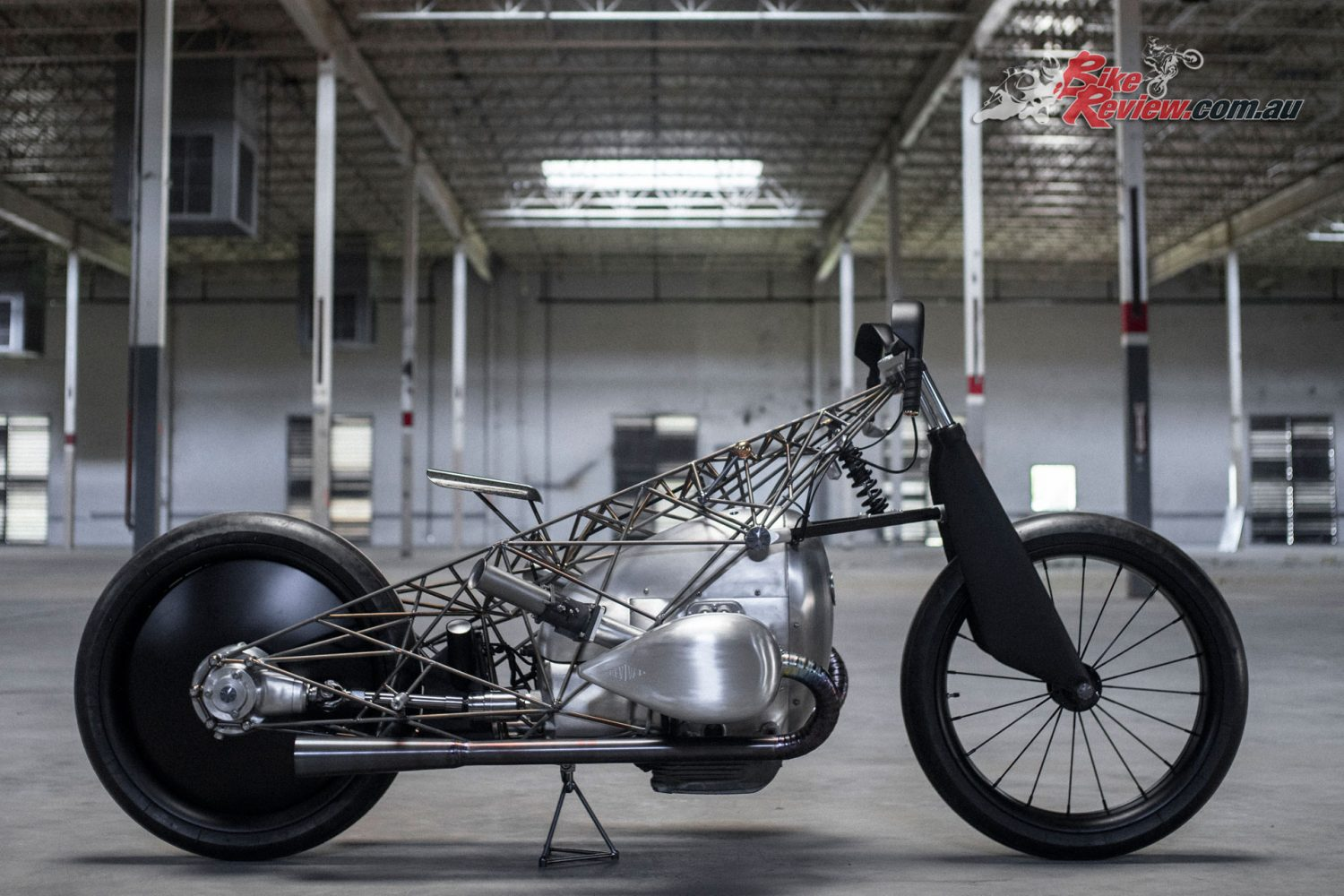Revival Birdcage from Revival Cycles featuring BMW's Big Boxer intended for the cruiser segment