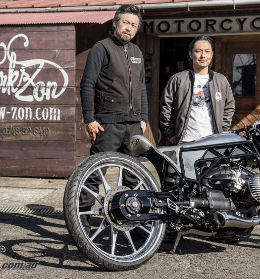 Custom Works Zon with 'Departed' featuring the BMW Big Boxer
