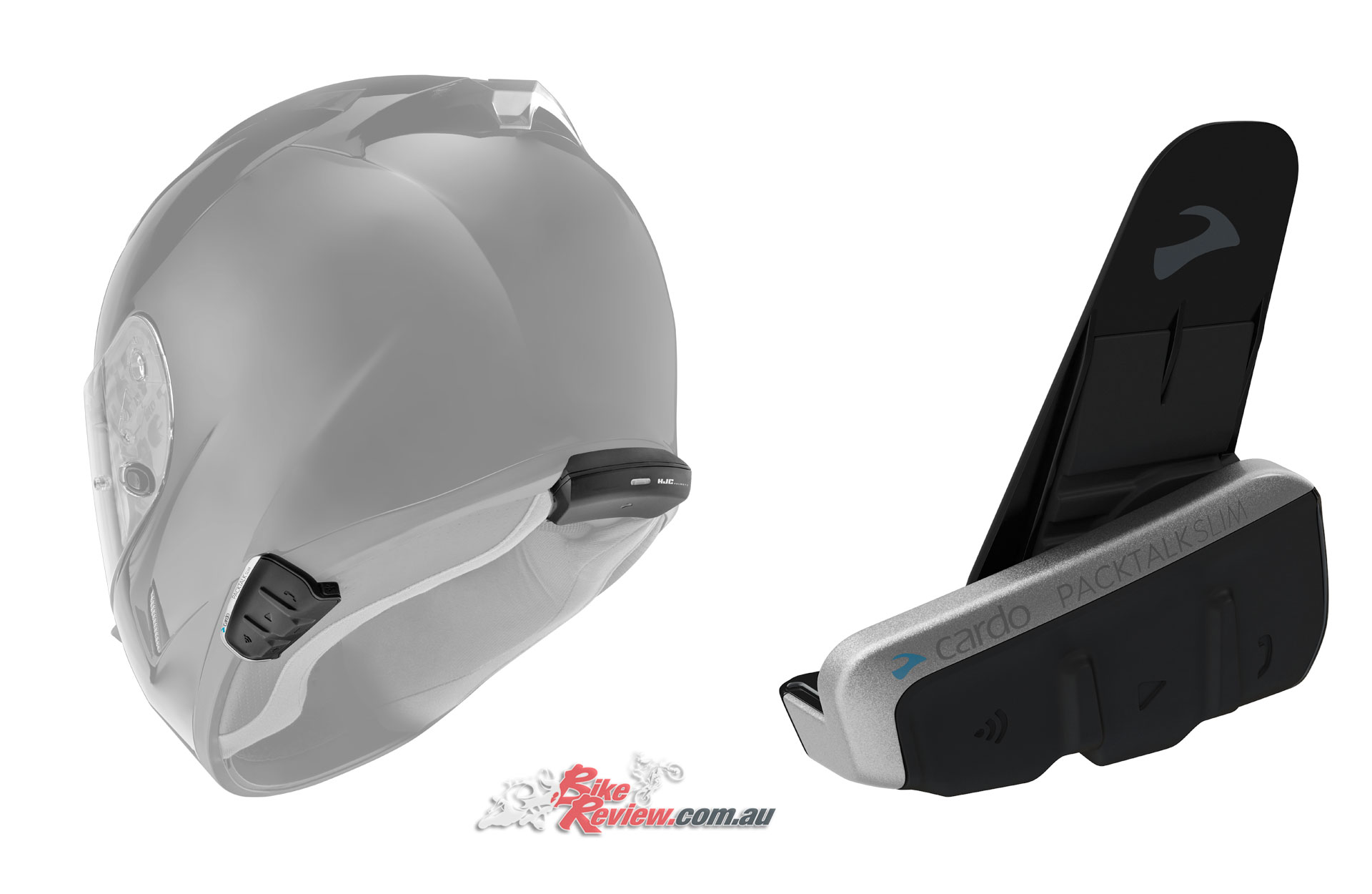 The Cardo Packtalk Slim offers the lowest profile option, with the premium features