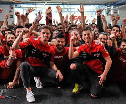 Ducati celebrates 350 WSBK wins