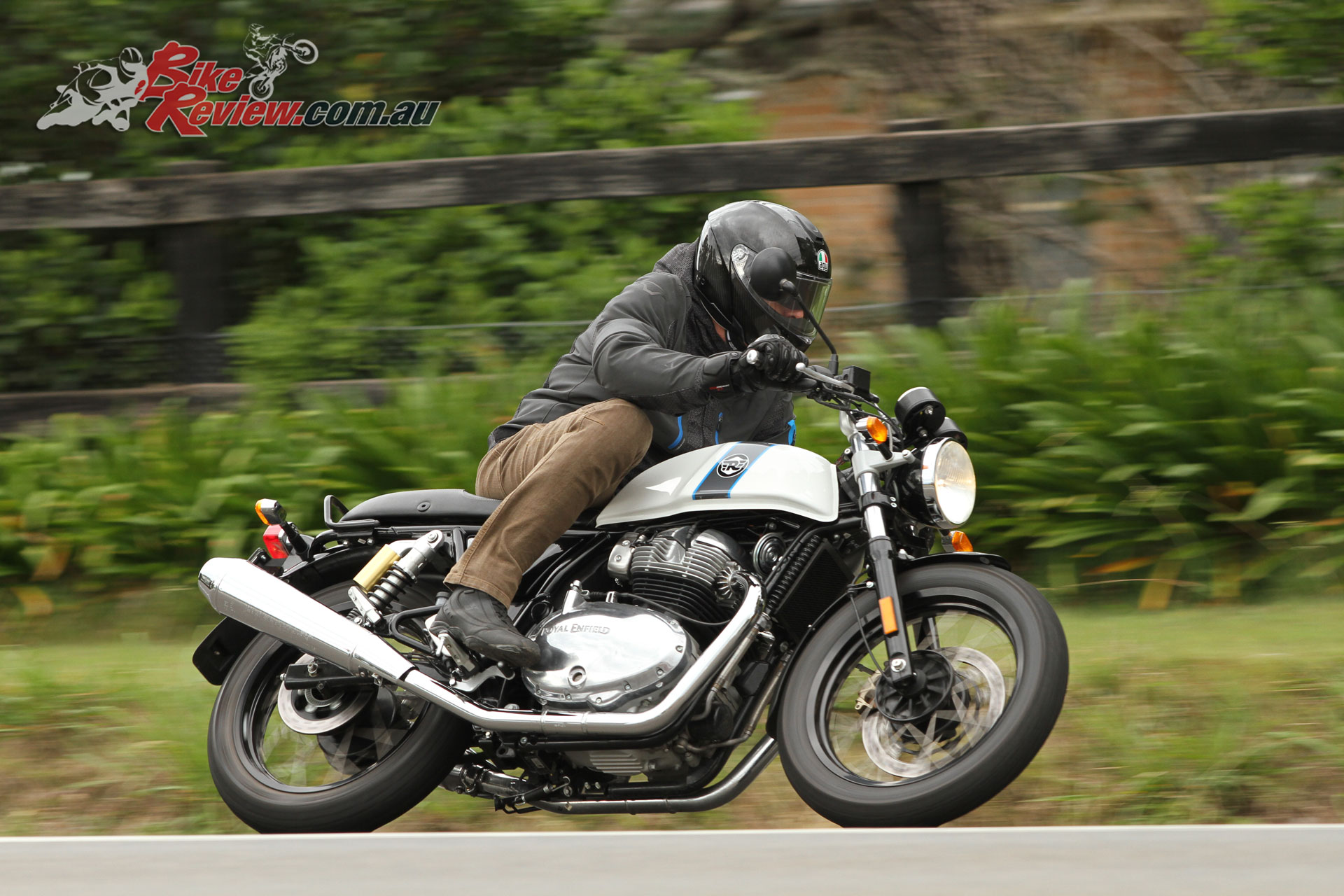 I did note on the really rough road surfaces the Continental GT 650 shocks were less controlled