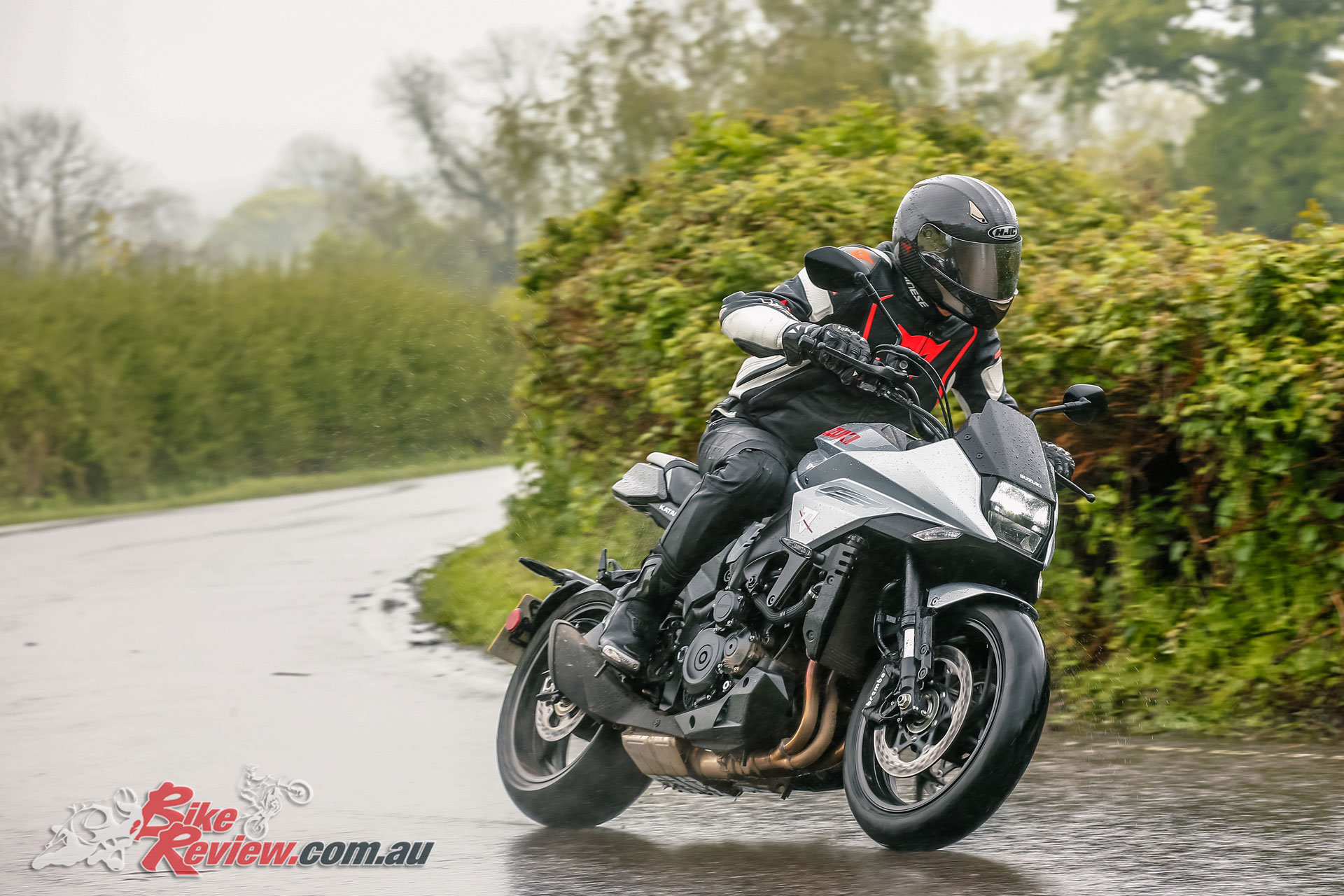 Testing conditions proved interesting, giving a good opportunity to test the new Katana's wet weather abilities