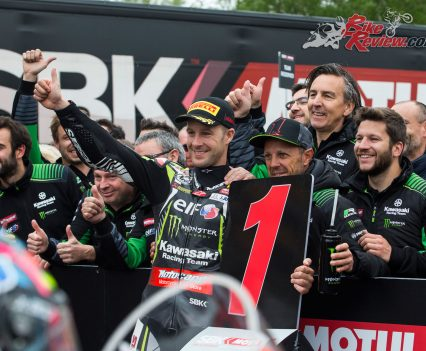 Jonathan Rea claims the double win at Imola