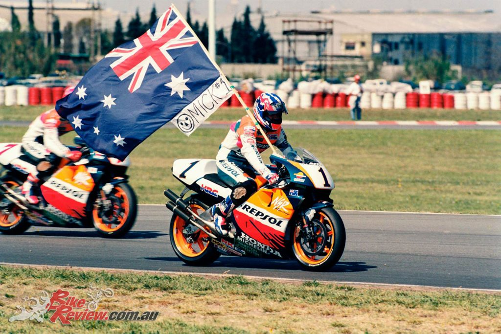 """Waving the chequered flag to Mick Doohan when he won his fifth MotoGP title at Phillip Island, that was very special"""