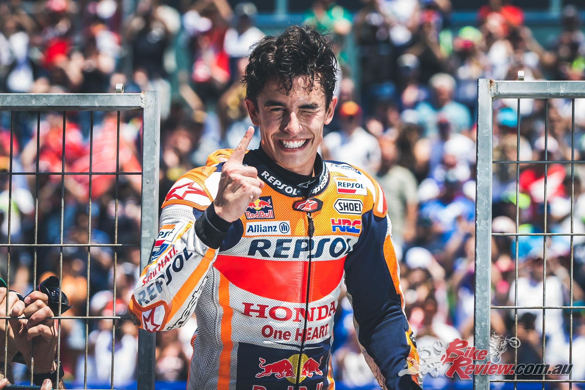 Marc Marquez celebrates